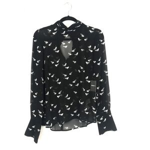 Sheer Bird Blouse Forever21